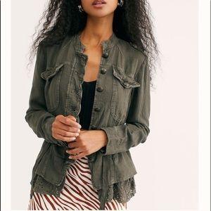 Free People Emilia linen blend jacket